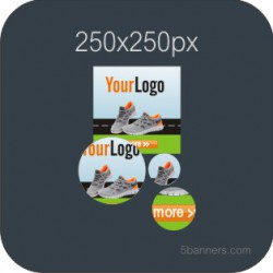 HTML5 Banner 250X250 & Source File