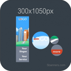 HTML5 Banner 300x1050 & SOURCE FILE