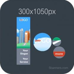 MYBANNER HTML5 BANNER 300X1050