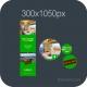 HTML5 Banner 300X1050