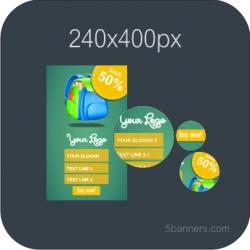 HTML5 Banner 240X400